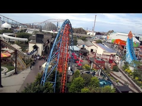 Irn-Bru Revolution Front Seat on-ride HD POV Pleasure Beach, Blackpool