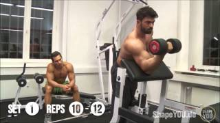 Full Biceps Triceps Workout - Alon Gabbay and  Sergi Constance