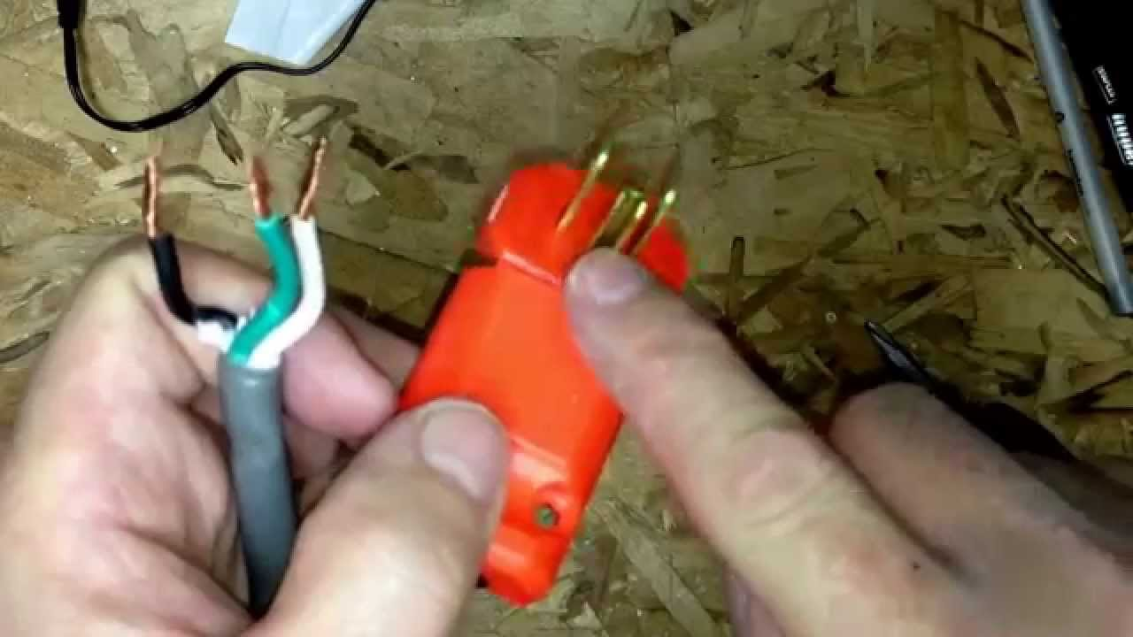 how to repair a extension cord end - youtube 50 amp extension cord wiring diagram #6