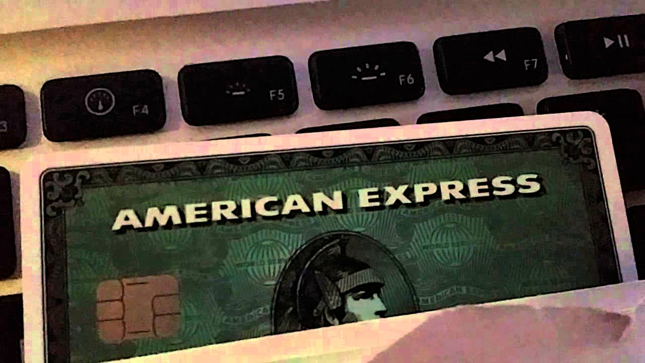 AMERICAN EXPRESS GREEN CARD WITH NEW CHIP AMEX UNBOXING 720p HD 1/10 ...