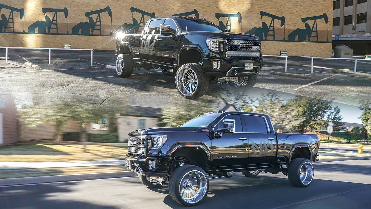 A Luxury Lifted 2020 Gmc Denali 2500 Duramax 26x14s With Chrome Fts Lift In Texas Youtube