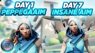 How To Easily Get Better Aim In 7 Days (Really Works!) | 7 Day Valorant Aim Guide | Aimlab Playlist