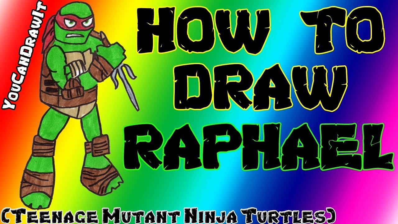 how to draw raphael from teenage mutant ninja turtles youcandrawit
