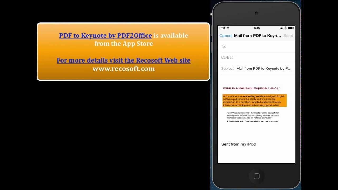 PDF to Keynote] - Convert PDF to Keynote on the iPhone a ...