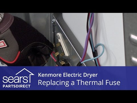 How to Replace a Kenmore Electric Dryer Thermal Fuse - YouTube Kenmore Dryer Model Wiring Diagram on