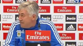 Rueda de prensa de Ancelotti previa al Real Madrid - Málaga