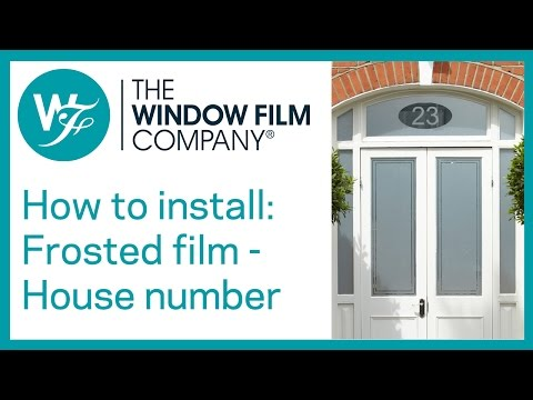 Frosted window film with house number cut out youtube for Window number