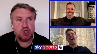 Neville and Carragher react to HILARIOUS football impressions! (Carragher, Rooney, Neville, Rodgers)