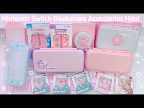 HUGE Nintendo Switch and Switch Lite Accessories Haul by Geekshare