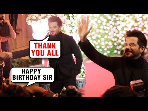 Media WISHES Anil Kapoor Happy Birthday At Kapil Sharma Wedding Reception Mumbai 2018