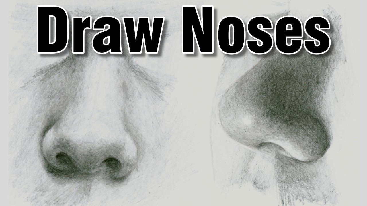 How To Draw A Realistic Nose In Pencil Drawing
