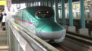 北海道新幹線・木古内駅にて 発車するはやて93号