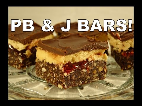 Peanut Butter and Jelly Chocolate Squares - with yoyomax12