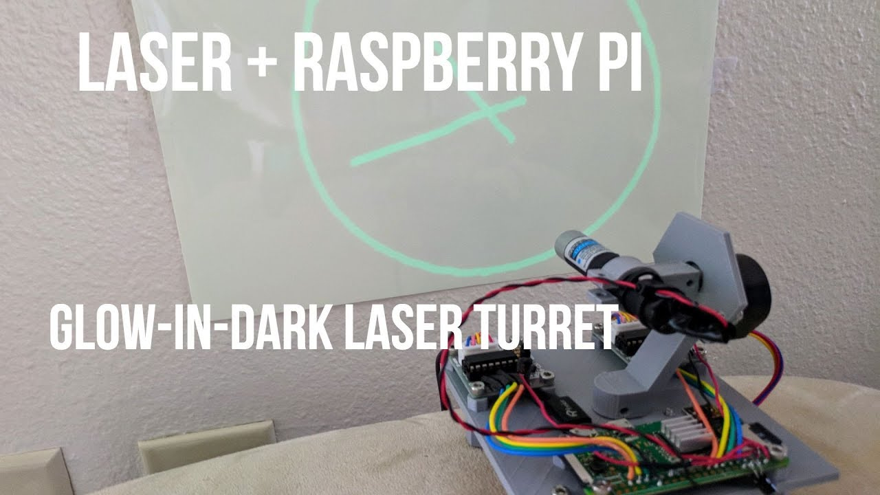 Raspberry Pi Laser Turret (Draws on wall!) Pt1