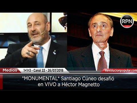 *MONUMENTAL* Santiago Cúneo desafió a Héctor Magnetto en VIVO