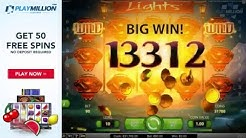 Big Win with 50 FREE SPINS Playing Lights Slot!
