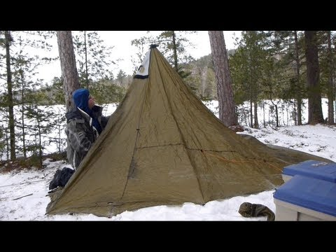& Winter trekking hot tent (Part 1/3) - YouTube