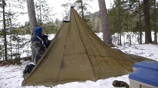 Winter trekking hot tent (Part 1/3)