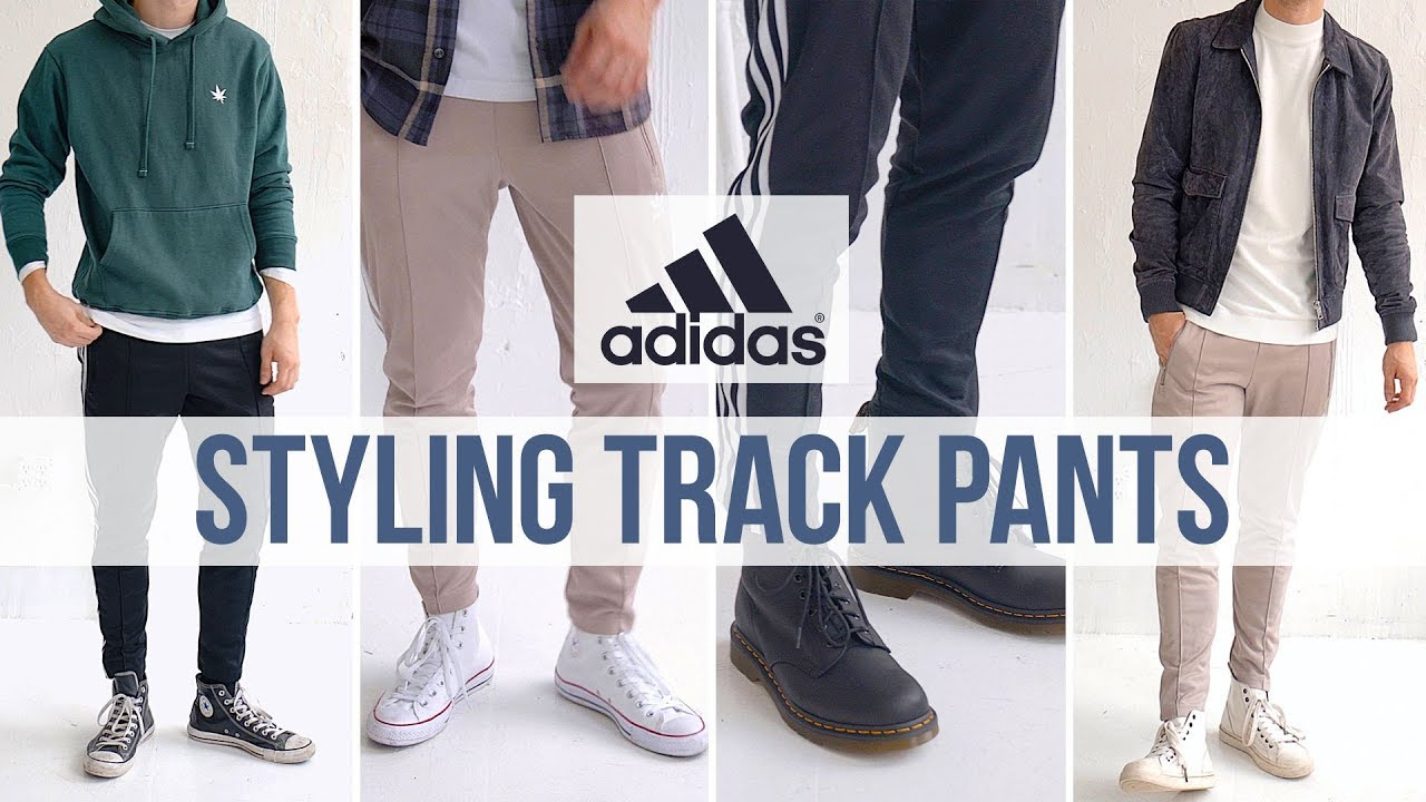 4 Different ways to Style Track Pants | Adidas Track Pants Inspiration