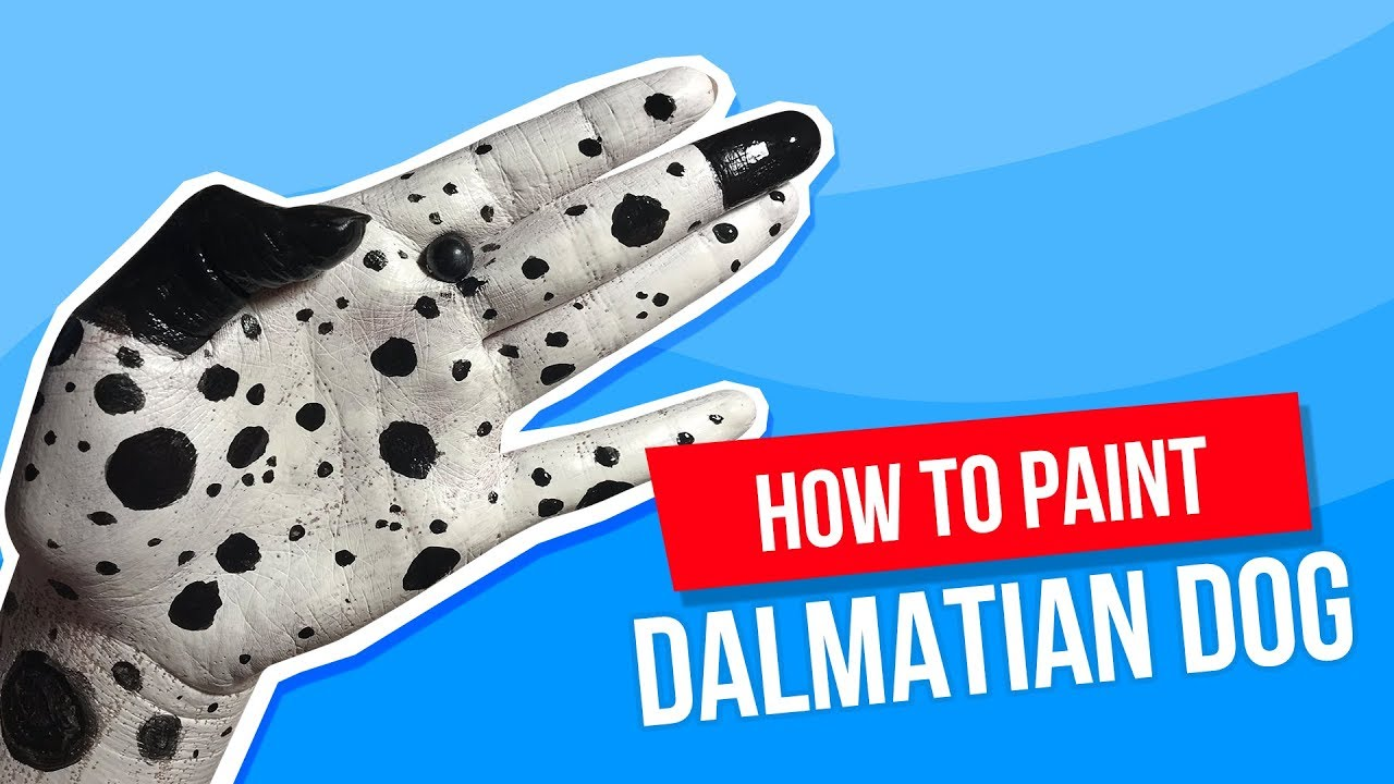 Tutorial: How to paint a Dalmatian Dog on your hand 🐶 Jak namalować Dalmatyńczyka na ręce 🐾