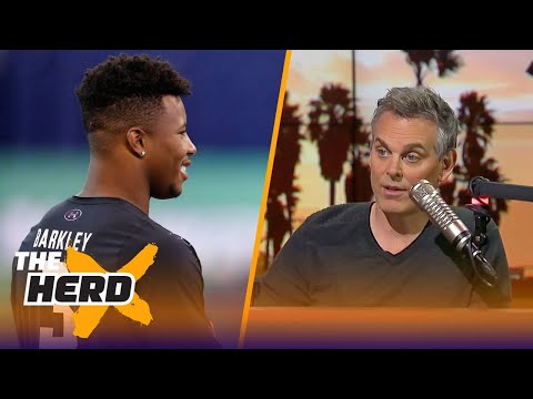 Colin reacts to Vegas setting the odds that Saquon Barkley will go No. 1 in the draft   THE HERD