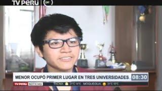 Adolescente de 16 años obtuvo máximo puntaje en examen de la UNI
