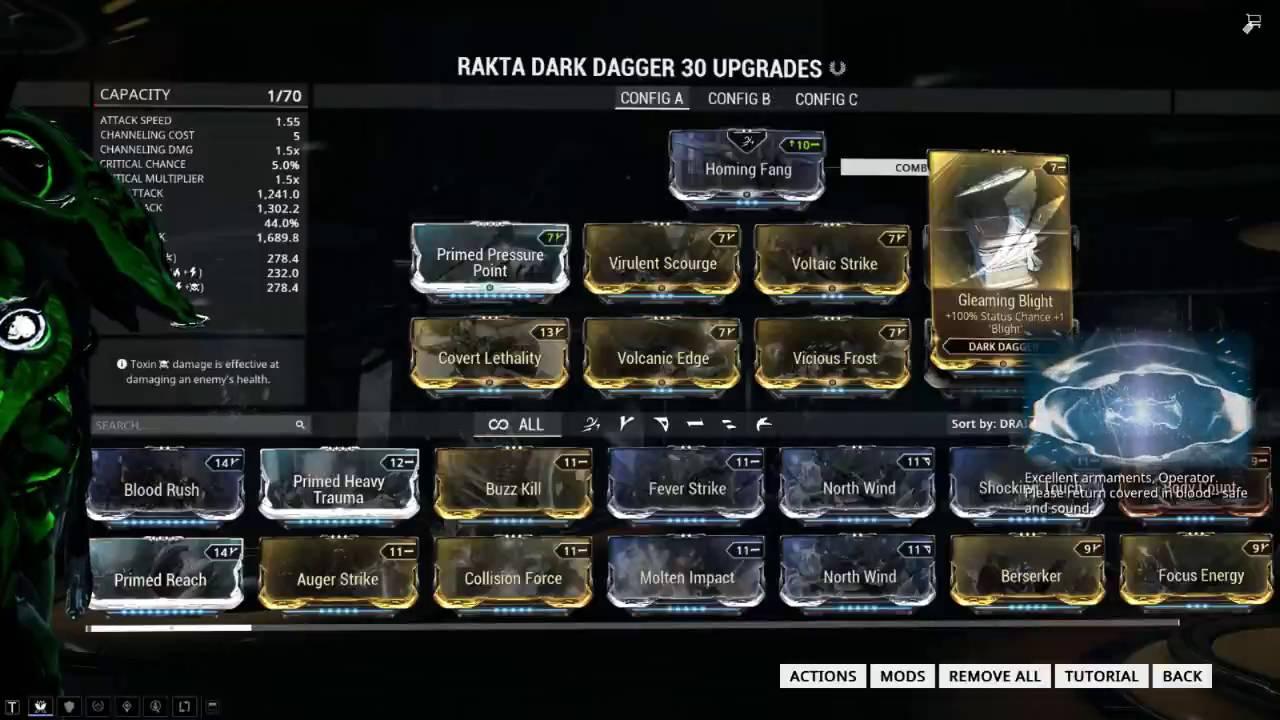Best Rakta Dark Dagger Build