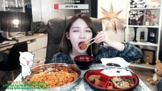 볶음 너구리라면 신메뉴+편의점도시락 리뷰먹방 !!! 슈기♬ Mukbang