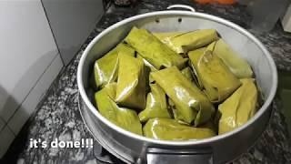 នំអន្សមចេក/នំខ្មែរដែលគេនិយមធ្វើនៅពេលមានបុណ្យទាន និងពិធីផ្សេងៗ - Banana sticky rice  - 甜香蕉糯米