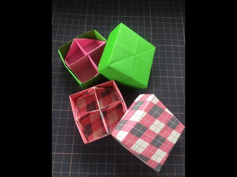 Box with the partition Cross pattern 仕切りのある箱十字の仕切り