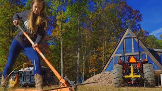 Building Off Grid A-Frame House In the Woods | The Foundation