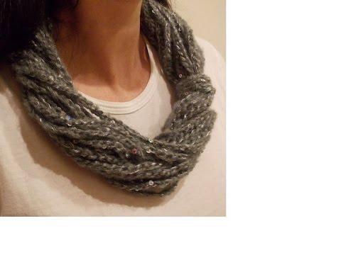 codice promozionale f4522 fa9cf Uncinetto - Collana Scaldacollo Semplice Solo Punto Catenella - Crochet  Simple Necklace Scarf