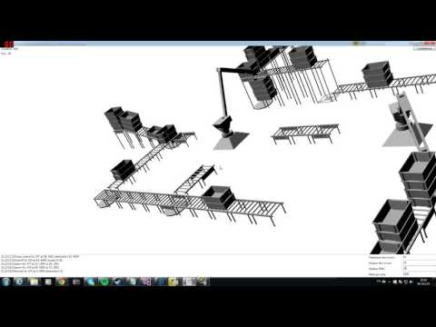 3D Simulation made in C# with WPF as render. Robots and packinglines!