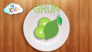 Farben lernen für Kinder durch buntes Obst auf Deutsch