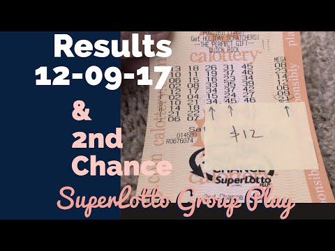 Results SuperLotto Group Play 12.09.17 & Second Chance