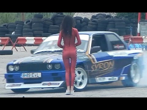 hot girls fast cars demo drift autovit youtube