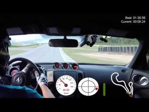Fast Lap using VBOX Sport at Atlanta Motorsports Park (AMP) - Stock 370Z