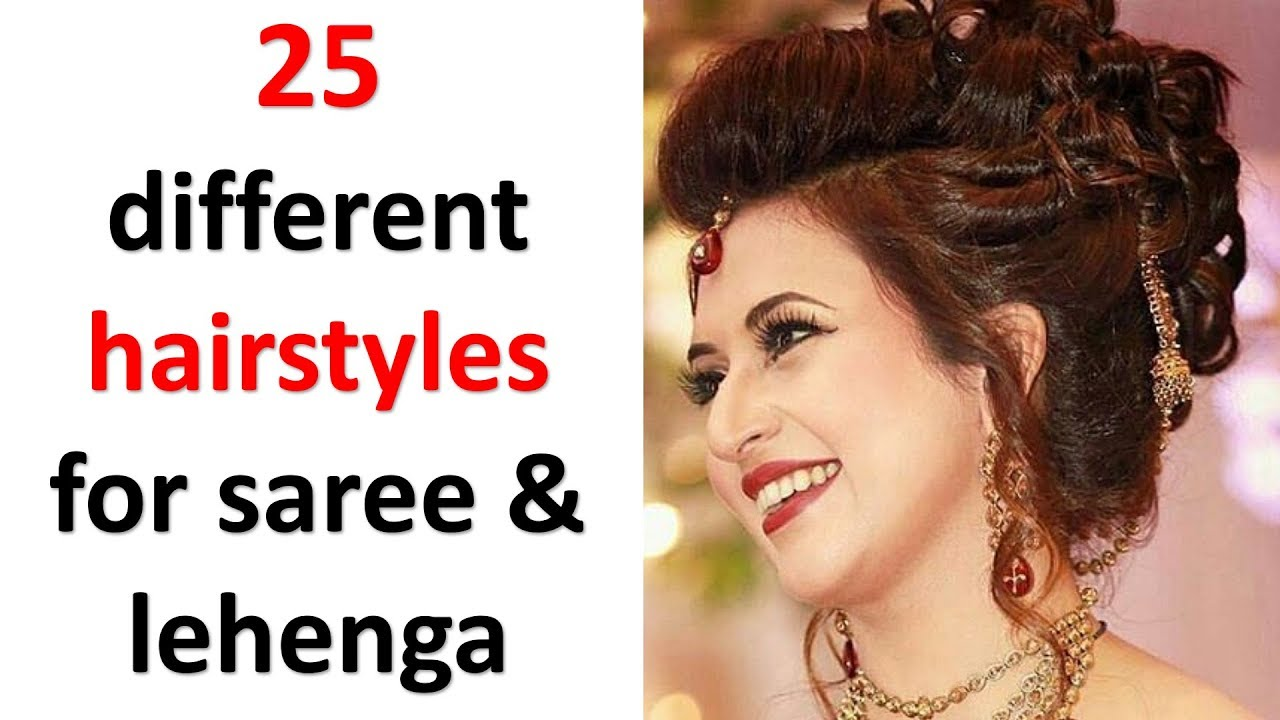 25 Easy And Beautiful Hairstyles With Saree Lehenga New Hairstyle Hairstyles For Girls