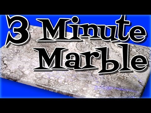 Metallic Epoxy: White Marble In 3 Minutes