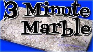 Metallic Epoxy: White Marble In 3 Minutes