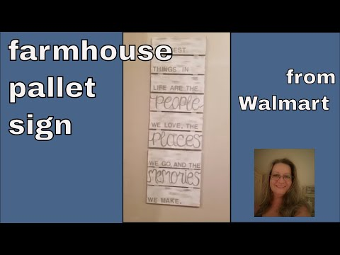 DIY Farmhouse Pallet Sign/Home Decor/Walmart Pallets