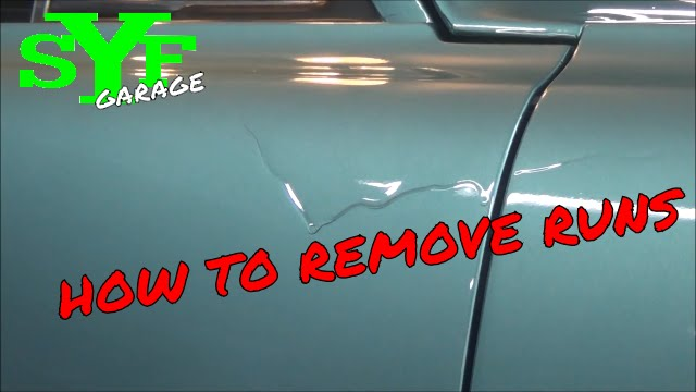 How to remove runs in a paint job  YouTube