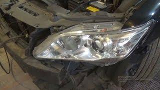 как снять переднюю фару и поменять в ней лампы, Opel Astra J, GTC