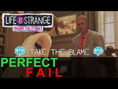 BACKTALK PERFECT FAIL TAKE BLAME GO ALONG W/ RACHEL Episode 2 Brave Life Is Strange Before the Storm