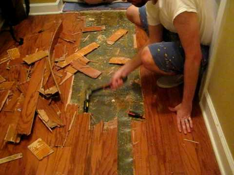 Removing Old Wood Floor (Part 1) - Removing Old Wood Floor (Part 1) - YouTube