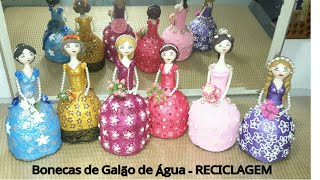 Faça Bonecas com Galão de Água – Recicladas e Decoradas com Pérolas