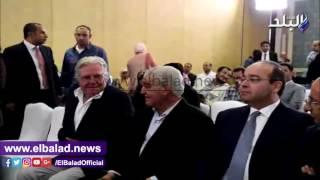 حسين فهمي يشارك زاهي حواس لحظة إطلاق 'كاشف الأسرار'.. فيديو وصور