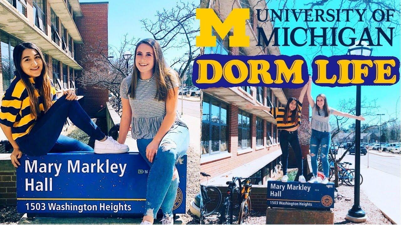 University Of Michigan Dorms Dorm Life Freshman Dorms Central Campus The Hill North Campus Youtube