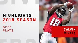 Best plays from Atlanta Falcons wide receiver Calvin Ridley's rookie year | 2018 season