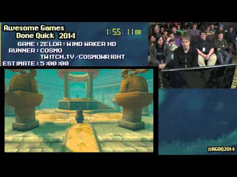 Legend of Zelda: The Wind Waker HD :: Live SPEED RUN (4:35:29) by Cosmo #AGDQ 2014